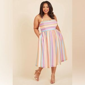ModCloth Purposefully Piquant Midi Dress NEW